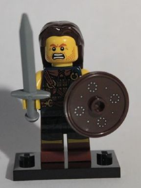 Lego Series 6 Scottish Highlander Collectible Minifigure 8827 With Pamphlet