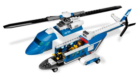 BrickLink - Set 3222-1 : Lego Helicopter and Limousine [Town:City:Airport]  - BrickLink Reference Catalog
