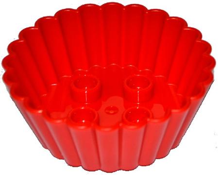*NEW* 4 PCS Lego DUPLO Dark Orange /& Yellow CUPCAKE MUFFIN CUP with 2x2 Studs