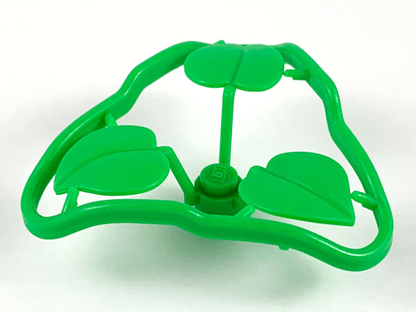 LEGO 4 x Pflanze 3 Blätter grün Plant Stem 1x1x2//3 with 3 Large Leaves 6255