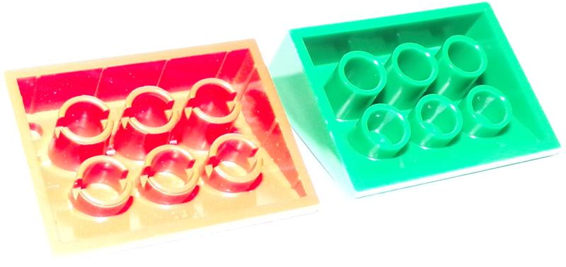 1x Lego ® Slanted//Dachstein 33 ° 3x4 3297px22 with Track Plan Print NEW light grey