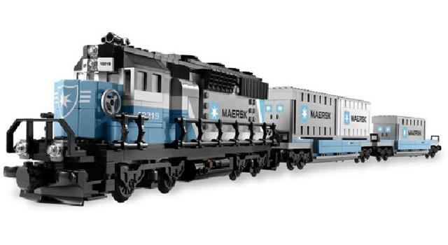 Bricklink Set 10219 1 Lego Maersk Container Train Train Rc