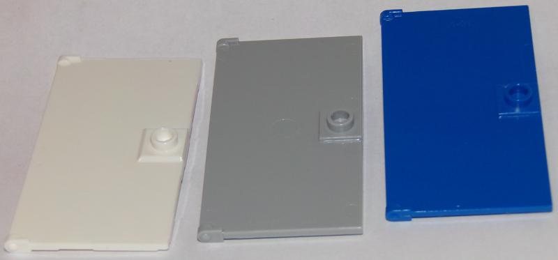 gris, grey 1 x LEGO 60616 Porte Poignée Door 1x4x6 Stud Handle NEUF NEW