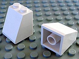 15 Neuf LEGO Slope 65 2 x 2 x 2 with Bottom Tube Blanc