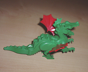 6129c03 Lego Dragon Green with Red Wings