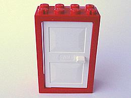 2x Lego ® 4131 Door Door Leaf Door 1x4x5 Red