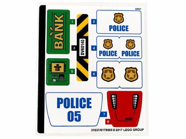 BrickLink - Part 60140stk01 : Lego Sticker for Set 60140 - (31837 ...