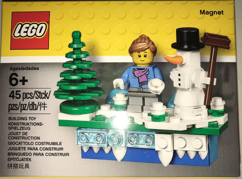 853663 Lego Winter Scene Magnet