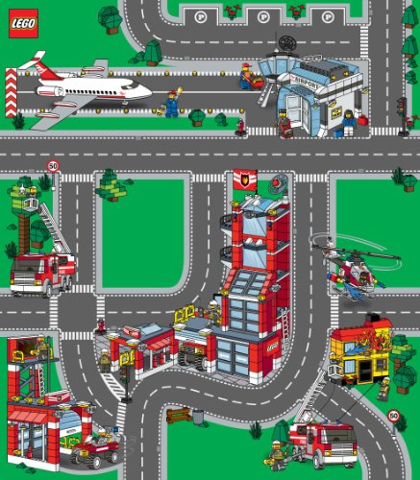 Bricklink Gear 2729c Lego Playmat Lego City Fire Airport
