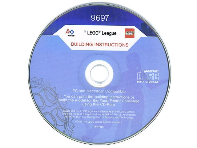 Bricklink Gear 4644686 Lego Instruction Cd Rom For 9697 First