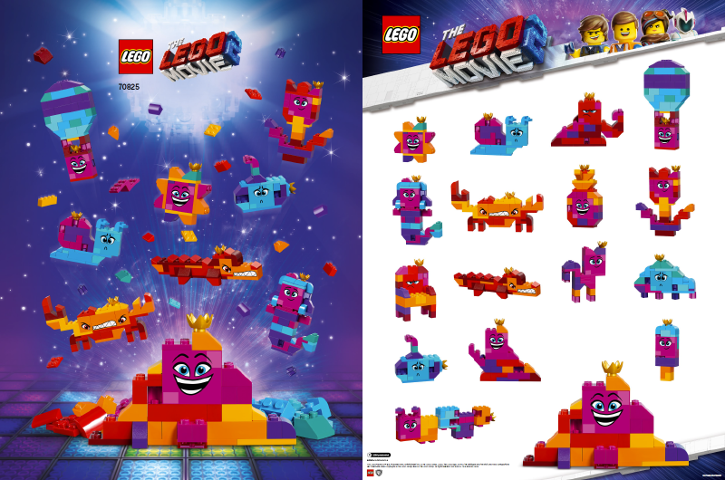 c638903a619 BrickLink - Gear 6275961 : Lego Queen Watevra's Build Whatever Box!  Inspiration Models (Double-Sided) [Poster:The LEGO Movie 2] - BrickLink  Reference ...