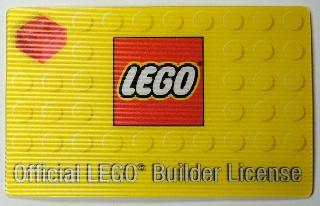 BrickLink - Gear 852998lic : Lego Official LEGO Builder License