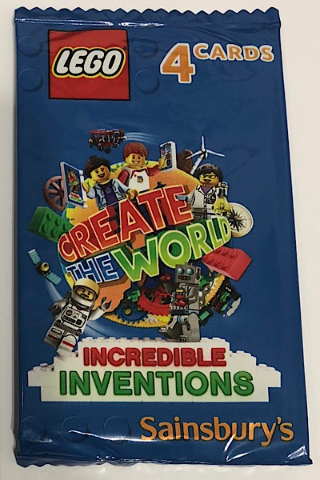 No 4 LEGO Sainsburys Create The World Incredible Inventions cards  004 all set