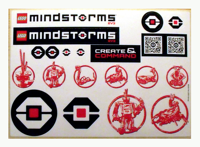 BrickLink - Gear Gstk162 : Lego Sticker, Mindstorms EV3