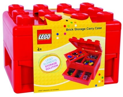 Charming Lego Brick Storage Carry Case   Red