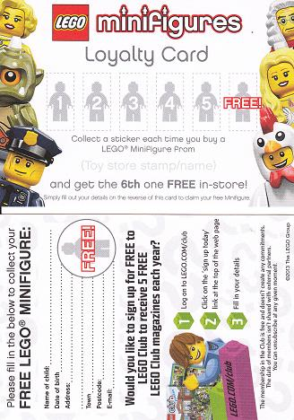 BrickLink - Gear loyc13mf01 : Lego Minifigures Loyalty Card 2013