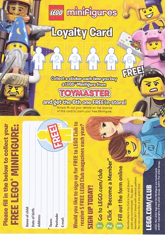 BrickLink - Gear loyc14mf03 : Lego Minifigures Loyalty Card 2014