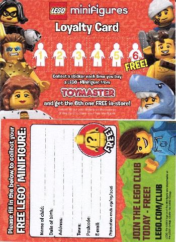 BrickLink - Gear loyc16mf01 : Lego Minifigures Loyalty Card 2016
