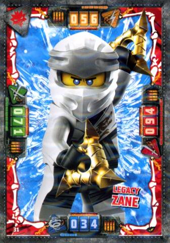 Lego Ninjago Legacy Nummer 3D Sammelkarte Zane