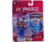 Gear No: 1648jay  Name: Ninjago Jay Key Chain with Clip-on Battle Sound Base blister pack