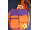 Gear No: 185314  Name: Messenger Bag, Scala Single Strap with Pockets, Purple Inset, Orange