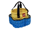 Gear No: 212542  Name: Storage Bucket Soft - Yellow with Blue Outer Pockets