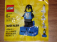 Gear No: 2855046  Name: Magnet Set, Minifigure Black Falcon - with 2 x 4 Brick Base (Bricktober Week 4) polybag