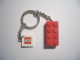 Gear No: 3917b  Name: 2 x 4 Brick - Red Key Chain with 2 x 2 Square Lego Logo Tile