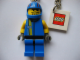Gear No: 3945b  Name: Drome Racer Key Chain with Closed Mouth and Stubble Head Key Chain with 2 x 2 Square Lego Logo Tile