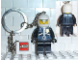 Gear No: 3981  Name: Police Officer Key Chain with 2 x 2 Square Lego Logo Tile