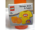 Gear No: 4030shirt  Name: Storage Brick Round 1 x 1 Trans Orange with Yellow Shirt