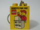 Gear No: 4066pb215  Name: Duplo, Brick 1 x 2 x 2 with Benefits Fair 1997 Pattern - Key Chain