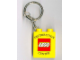 Gear No: 4066pb340  Name: Duplo, Brick 1 x 2 x 2 with LEGO Distribution Center Pattern Black - Key Chain