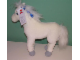 Gear No: 4201889  Name: Belville Large White Horse Plush, Fully Poseable Legs, Silver Feet and Blue Bows