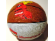 Gear No: 4202553  Name: Ball, Inflatable Basketball, Large (9 in. dia.) - LEGO Sports and Slam Dunking Minifigure Pattern