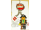 Gear No: 4204349  Name: Pirate Captain Key Chain with 2 x 2 Square Lego Logo Tile, 2 Chains Attachment