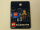 Gear No: 4244711  Name: Pin, Minifigure - Worker (Orange) with Jackhammer