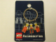 Gear No: 4248976  Name: Minifigures Metal Key Chain - Construction Workers (Orange)