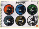 Gear No: 4295255  Name: Sticker, Bionicle Piraka Theme, Sheet of 6 Stickers