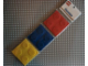 Gear No: 4495474  Name: Food - Coaster Set, Bricks Pattern (Red, Blue, Yellow)