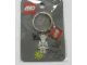Gear No: 4507870  Name: Skeleton with Bat Flat Metal Key Chain - Funny Night