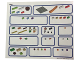 Gear No: 45210stk01  Name: Sticker Sheet for Storage Tray of Set 45210 - (6104493)