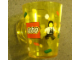Gear No: 4544968  Name: Food - Cup / Mug, Minifigures Pattern Yellow