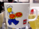 Gear No: 4548307  Name: Food - Cup / Mug, Minifigure with Pizza Pattern