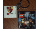 Gear No: 4599491  Name: 4 x 4 Tile, Modified - Key Chain with HP Gryffindor Crest Pattern (Sticker)