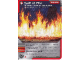 Gear No: 4612930  Name: Ninjago Masters of Spinjitzu Deck #1 Game Card 24 - Wall of Fire - International Version