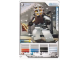 Gear No: 4643452  Name: Ninjago Masters of Spinjitzu Deck #2 Game Card 20 - Kendo Zane - International Version