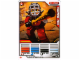 Gear No: 4643646  Name: Ninjago Masters of Spinjitzu Deck #2 Game Card 3 - Kendo Kai - North American Version