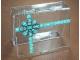 Gear No: 4659758Box  Name: Storage Box Plastic with Two-Tone Green Target Bullseye Ribbon Pattern