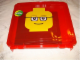 Gear No: 498934  Name: Project Case Minifigure Head Red with Baseplate